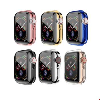 Apple Watch 1 2 3 4 Seri 42 mm Silikon Kapak Kılıf Ekran Koruyucu