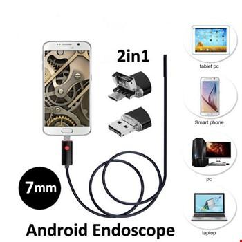 10 Metre 2 in 1 Micro Usb Yılan Endoskop Kamera Sert Kablolu