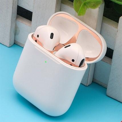 Apple Airpods 1 ve 2 için Kulaklık Toz Koruma Filmi Toz Geçirmez