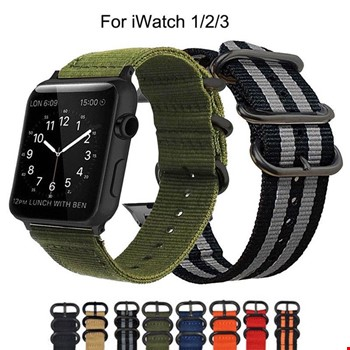 Apple Watch 1 2 3 4 5 Seri 42 44mm Spor Örgü Kanvas Kordon Kayış