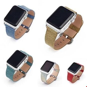 Apple Watch 2 3 4 5 42 ve 44mm TME Kordon Kayış Shine Parıltılı