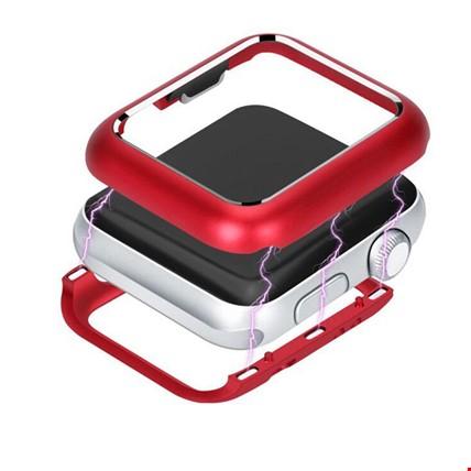 Apple Watch 1 2 3 seri 38mm Metal 360 Kapak Koruma Renk: Kırmızı