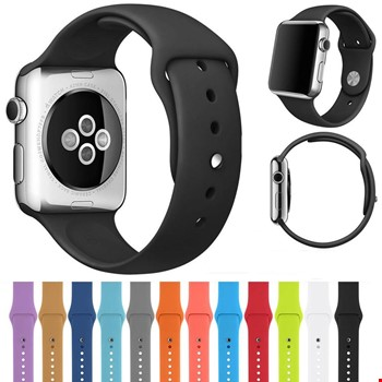 Apple Watch 2 3 4 5 Seri 42mm ve 44mm Silikon TME Kordon Kayış