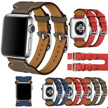 Apple Watch Watch 2 3 4 5 42mm Kordon Kayış Hermes Model Deri