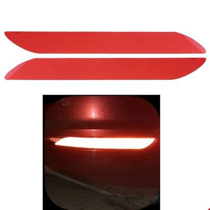 Araç Araba Oto Tampon Reflektörü Kırmızı Sticker Yapıştıma