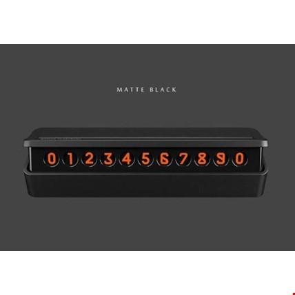 Araç İçin ParkTel Numaratik Numaratör 2019 Model Yeni Dizayn Renk: Siyah