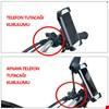 Motosiklet Bisiklet Telefon Tutucu Şarj Girişli Md2