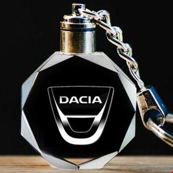 Dacia Logolu Led Işıklı 3D Kristal Led Araba Anahtarlık