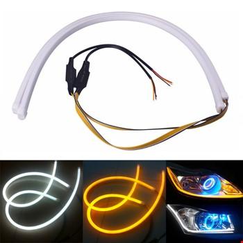 Far İçi Altı Silikon Led Neon Beyaz Led Sarı Sinyallı 60 Cm