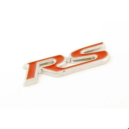 RS Amblem Metal Logo Dekoratif Paslanmaz Bagaj Logosu