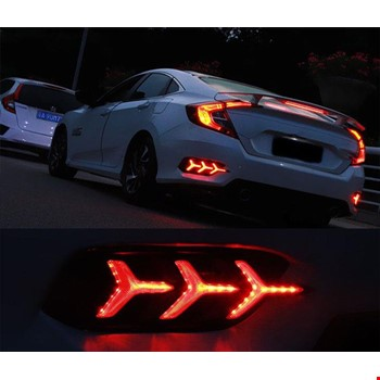 Honda Civic 2016 2017 2018 Led Stop Led Arka Sis Yıldız Model