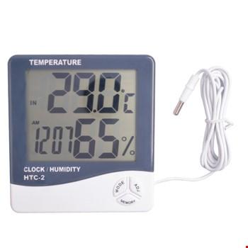Htc-2 Dijital Termometre Saat Alarm Nem Ölçer Dış Sıcaklık Ölçer