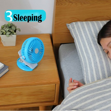 Şarjlı Mandallı Mini Vantilatör Ev Ofis Araç Soğutucu Fan