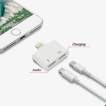 iPhone 7 8 Plus X Xr Xs Max Kulaklık Şarj Giriş Adaptör Splitter
