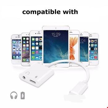 iPhone Lightning 7 8 Plus X Xr Xs Max Aux Adaptör ve Şarj Kablosu