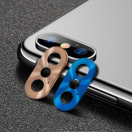 iPhone XS Max Kamera Lensi Koruma Koruyucu Halkası Metal 2 Adet
