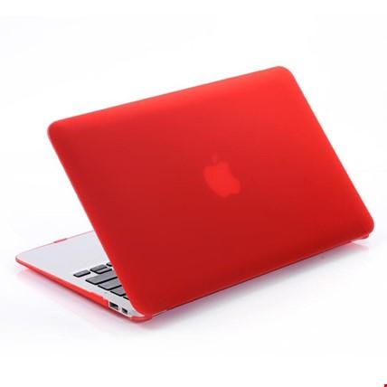 Macbook Pro 13 2018 Model A1989 Kılıf Rubber Kapak Sert Kılıf Renk: Kırmızı