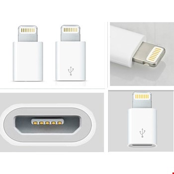 Micro Usb Den iPhone Lİghtning Çevirici Adaptör