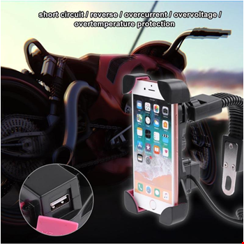 Motosiklet Bisiklet Telefon Tutucu Şarj Girişli
