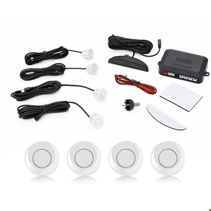 Dijital Ekranlı Araç Park Sensörü Ses İkazlı 4 Sensörlü Renk: Beyaz