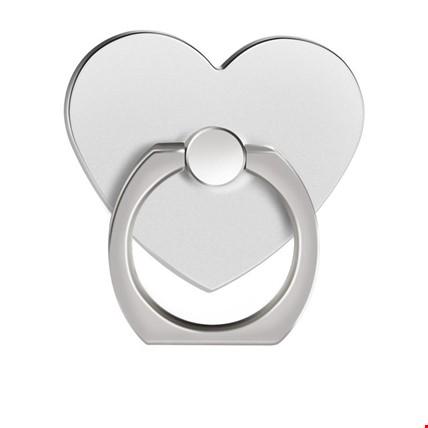 Kalp i Ring Telefon Halkası Yüzük Stand Selfie Yüzüğü 2 Adet Renk: Gri