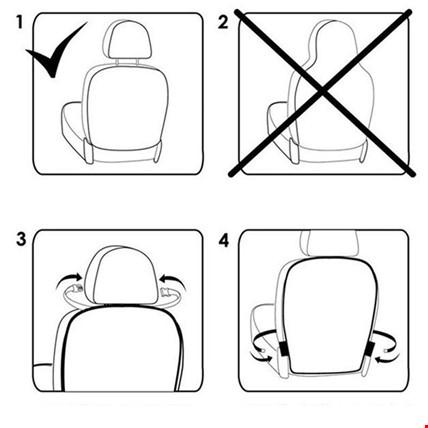 Oto Araç Koltuk Arkası Şeffaf Koruyucu 2 Li Ayak İzi Koruyucu