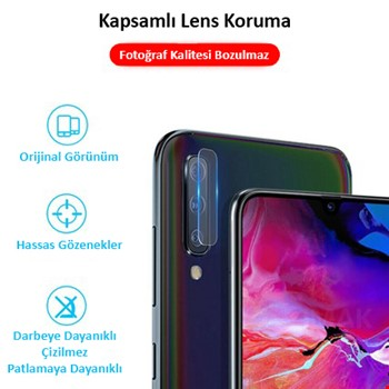 Samsung Galaxy A30 S Yüksek Çözünürlük Kamera Koruma Camı