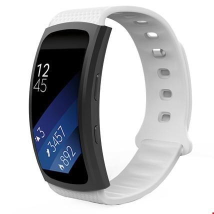 Samsung Gear Fit 2 R360 Silikon Kordon Kayış Renk: Beyaz