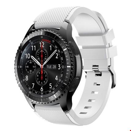 Samsung Gear Watch 46mm Silikon TME Kordon Kayış Renk: Beyaz