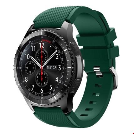 Samsung Gear Watch 46mm Silikon TME Kordon Kayış Renk: Haki