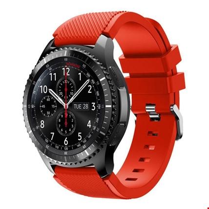 Samsung Gear Watch 46mm Silikon TME Kordon Kayış Renk: Kırmızı