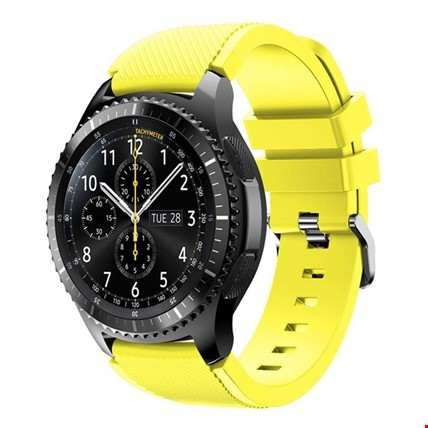 Samsung Gear Watch 46mm Silikon TME Kordon Kayış Renk: Sarı