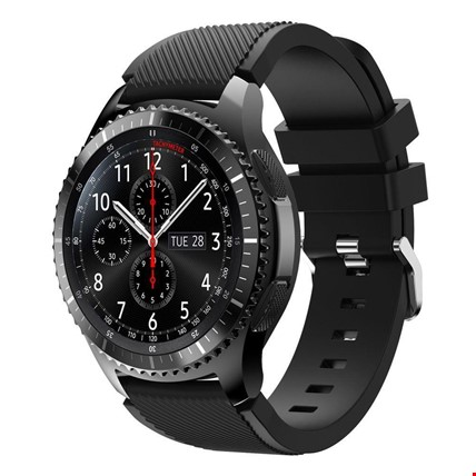 Samsung Gear Watch 46mm Silikon TME Kordon Kayış Renk: Siyah
