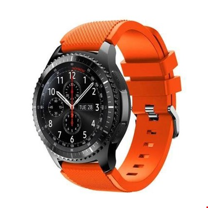 Samsung Gear Watch 46mm Silikon TME Kordon Kayış Renk: Turuncu