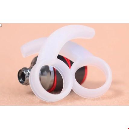 Kancalı Kulaklık Silikon Sabitleyici Universal Model 2 Çift Renk: Beyaz