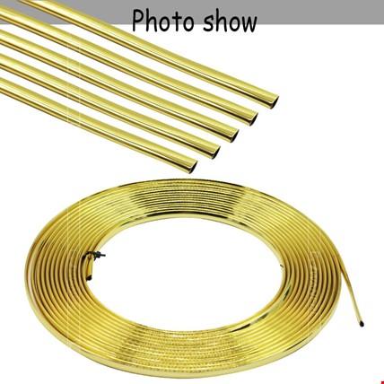 Araç İçi Dışı Geçmeli Koruyucu U Tipi Nikelaj Çıta 3-5-8-10-15 M Uzunluk Seçimi: 1 MetreRenk: Altın  Dore