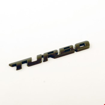 Turbo Metal Siyah Amblem Dekoratif Paslanmaz