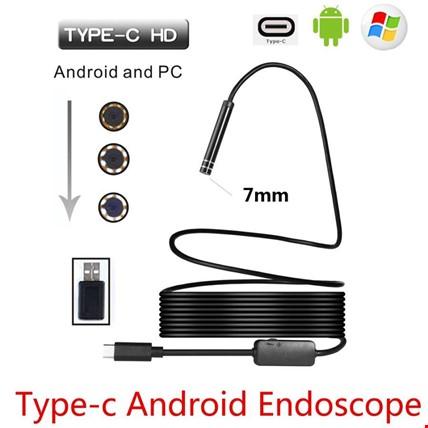 Type- C 3.1 Endoskop Yılan Android Kamera Sert Kablolu 5 Metre