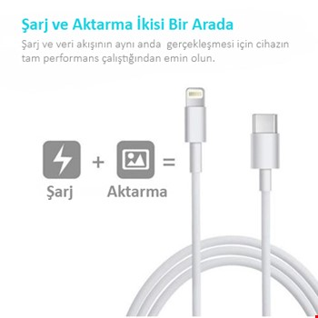 Type-C to iPhone Lightning Hızlı Şarj Data Senkronizasyon Kablosu