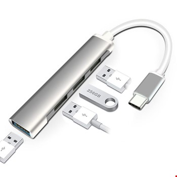Type-C Usb 3.1 den 4 Adet USB 3.0 HUB Otg Çoğaltıcı Adaptörü C809