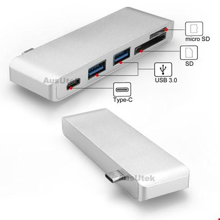 Macbook Type-C Port Çoğaltıcı Usb 3.0 Type-C ve Micro Sd Girişli