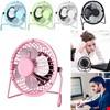 Usb Fan Vantilatör Soğutucu Metal Kasalı Usb 360 Derece Dönebilir Renk: Pembe