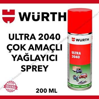 Würth Ultra 2040 Çok Amaçlı Yağlayıcı Sprey 200ml