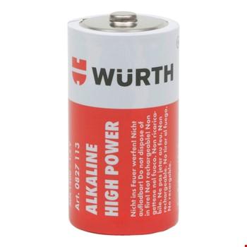 Würth Orjinal Yüksek Kalite Alkaline Orta Boy Pil 1.5v 2 Adet