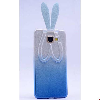 Galaxy A7 2016 Kılıf Zore Simli Tavşan Silikon Renk: Mavi