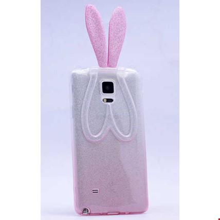 Galaxy Note 3 Kılıf Zore Simli Tavşan Silikon Renk: Pembe