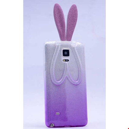 Galaxy Note 3 Kılıf Zore Simli Tavşan Silikon Renk: Mor