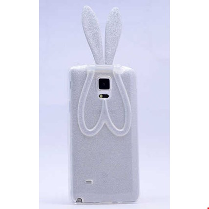 Galaxy Note 3 Kılıf Zore Simli Tavşan Silikon Renk: Gümüş
