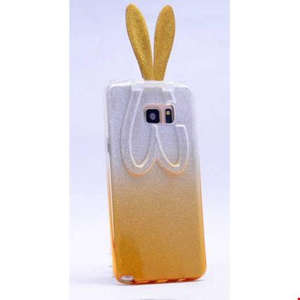 Galaxy S6 Edge Plus Kılıf Zore Simli Tavşan Silikon Renk: Sarı
