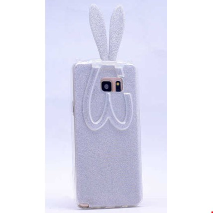 Galaxy S6 Edge Plus Kılıf Zore Simli Tavşan Silikon Renk: Gümüş